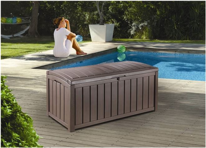 Glenwood Storage Box Situated Poolside