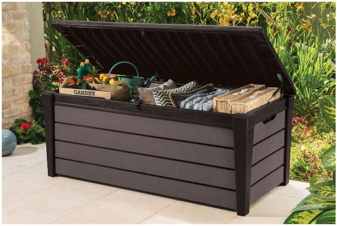 Brushwood Storage Box Accommodating Gardening Equipment