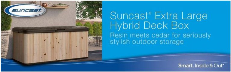 Suncast Extra Large Hybrid Deck Box Advantages