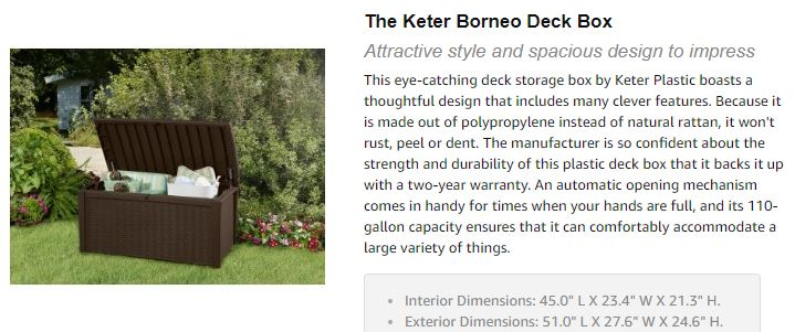 Keter's Borneo Description