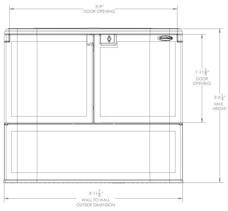 External Measurements - Front View