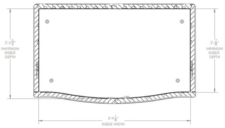 Internal Measurements - Top View