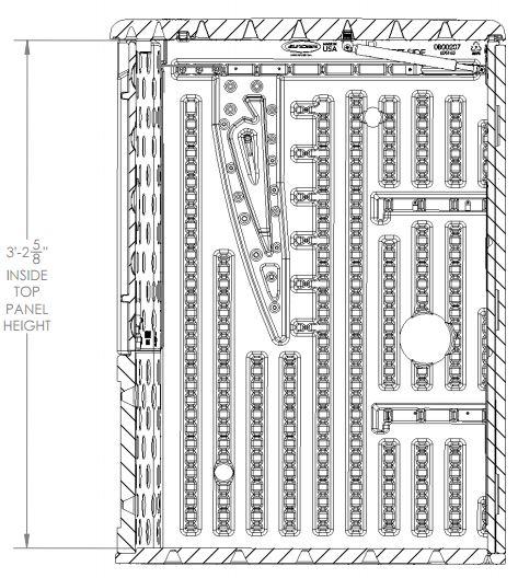 Internal Measurements - Section View