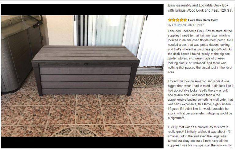 Brushwood Deck Box Serving Inside