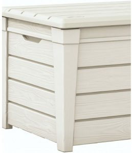 Brightwood Deck Box displaying White Shade