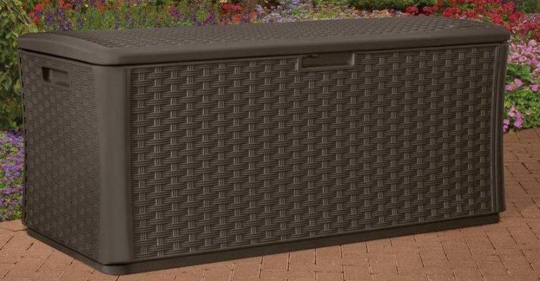 Suncast Extra Large Wicker Deck Box