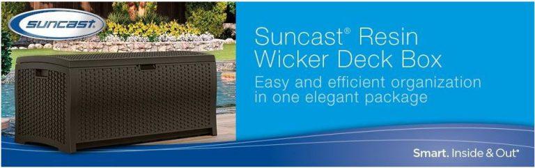Suncast Wicker Deck Boxes