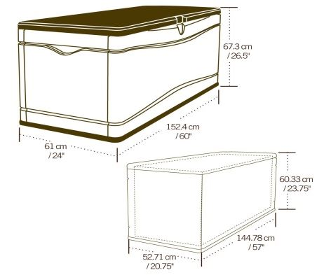 Lifetime Deck Box Measurements