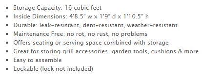 Rubbermaid Extra Large Deck Box Measurements
