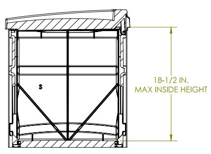 Internal Dimensions - Side View