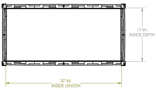 Internal Dimensions - Top View
