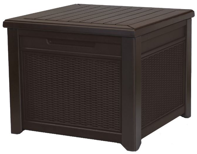 Square Deck Box Storage Seat Quality Plastic Sheds