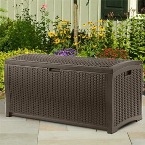 Outdoor Wicker Storage Boxes