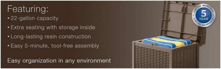 Suncast Mini Deck Box Seat Advantages