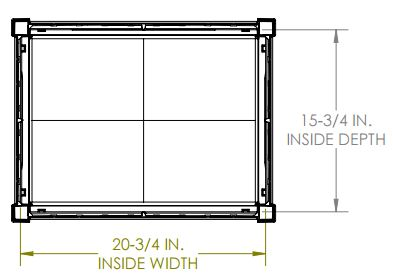 Internal Dimensions - Top View
