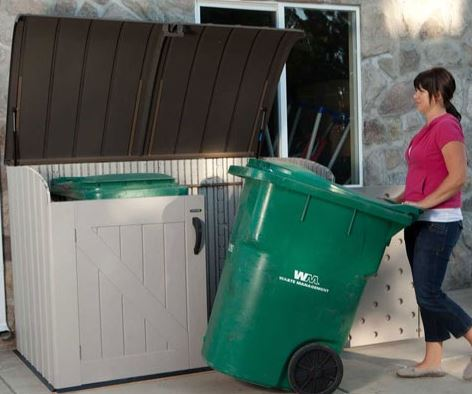Large Wheelie Trash Bin Storage