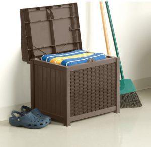 Suncast's Wicker Storage Seat