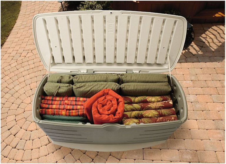 Rubbermaid's Outdoor Cushion Storage Bench