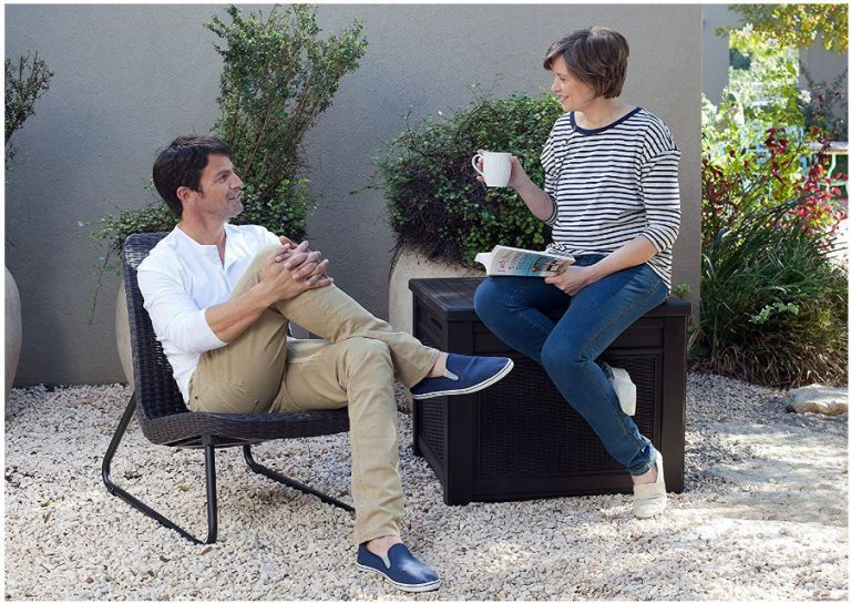 Keter's Square Deck Box - Storage Seat