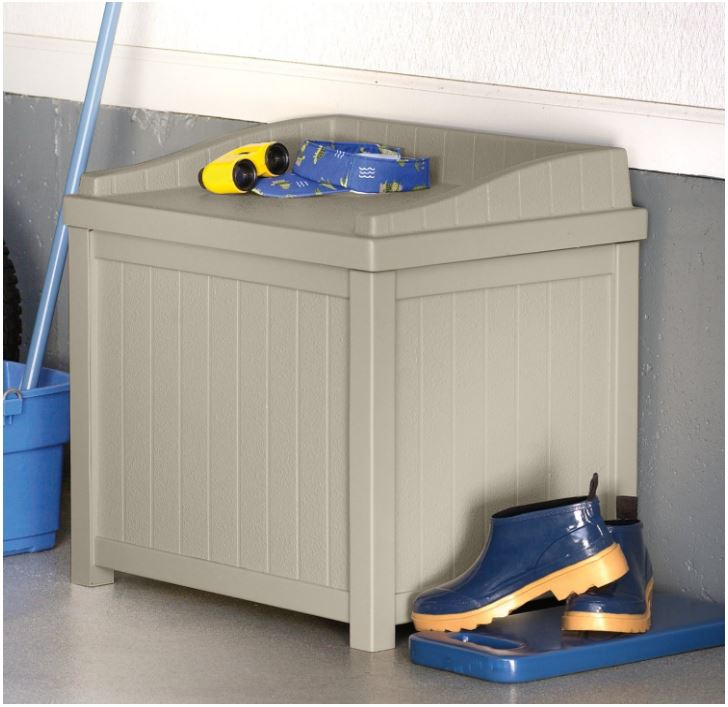 Suncast Light-Taupe Storage Seat