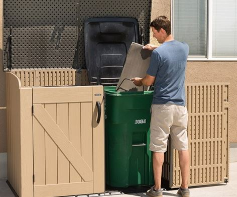 Able to Accommodate 2 Large Garbage Cans