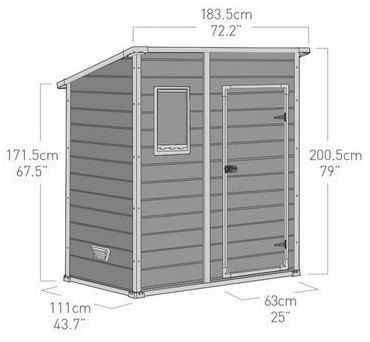 Manor Pent 6x4 Measurements