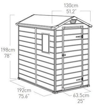 Manor 4 x 6 ft Measurements
