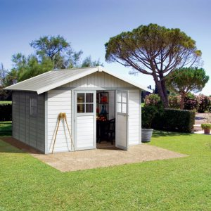 Grosfillex 11 m² Pale Blue & White Summerhouse / Shed