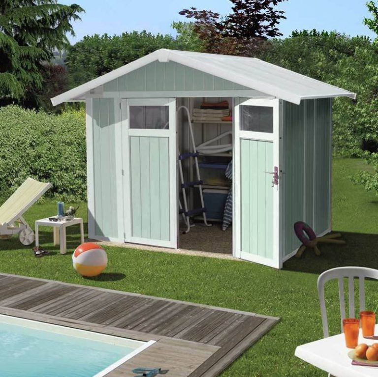 Grosfillex 4.9 m² Pale Green PVC Shed