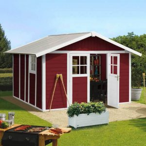 Deco PVC Garden Summerhouse displayed in Burgundy