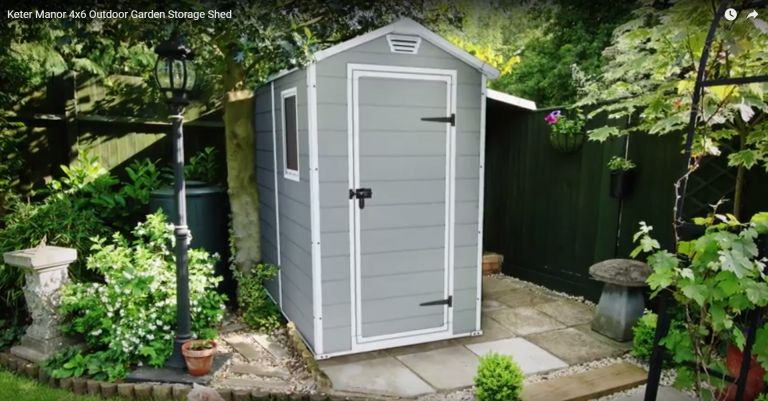 Manor 4x6 Shed - Fits in Confined Spaces