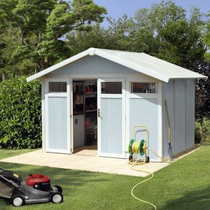Grosfillex 7.5 m² Utility Shed - Pale Blue