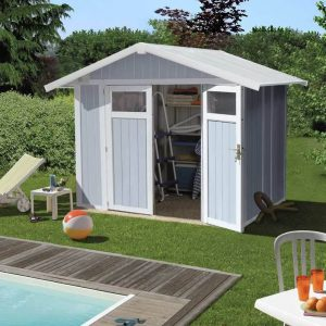 Grosfillex 4.9 m² Utility Shed - Pale Blue