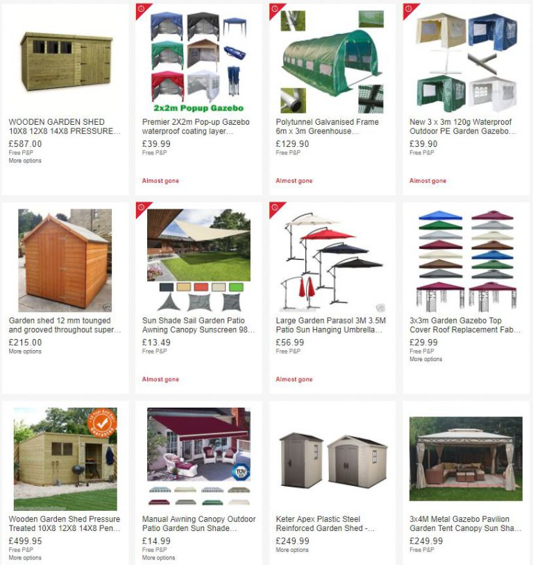 Daily Deals in Garden Sheds, Structures and Shade