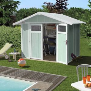 Grosfillex 4.9 m² Utility Shed - Pale Green