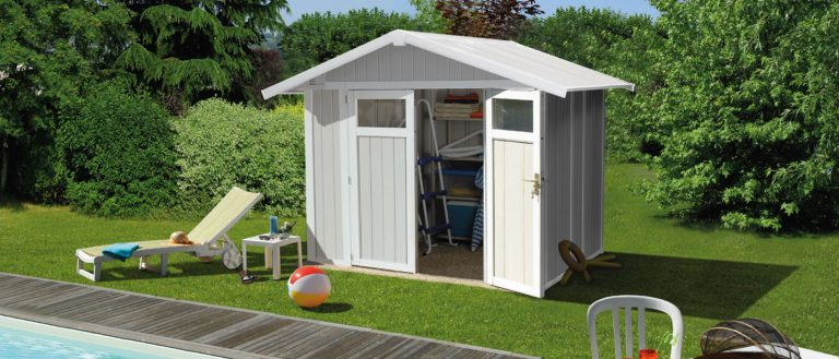 Grosfillex 4.9 m² PVC Utility Shed - Pale Green