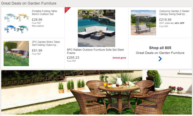 Daily Deals on Garden Furniture