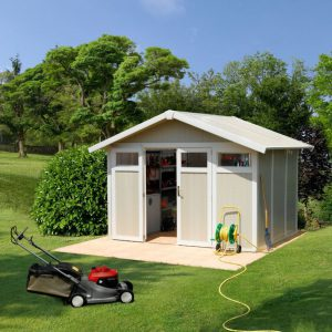 Grosfillex 7.5 m² Utility Shed - Pale Green