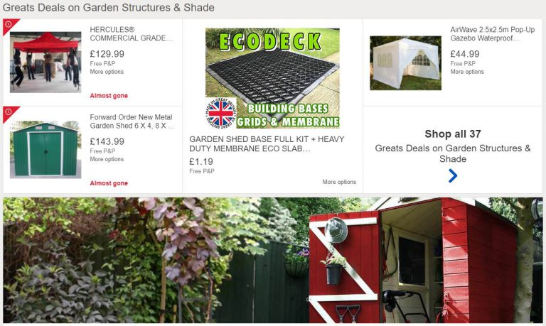 Daily Deals on Garden Sheds, Structures & Shade