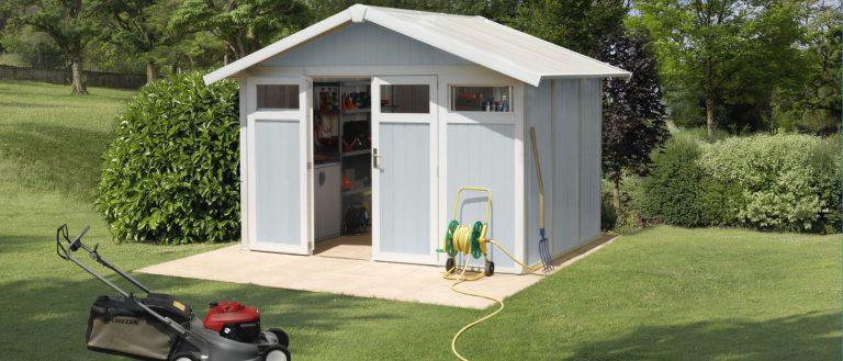Grosfillex 7.5 m² PVC garden sheds - Pale Blue