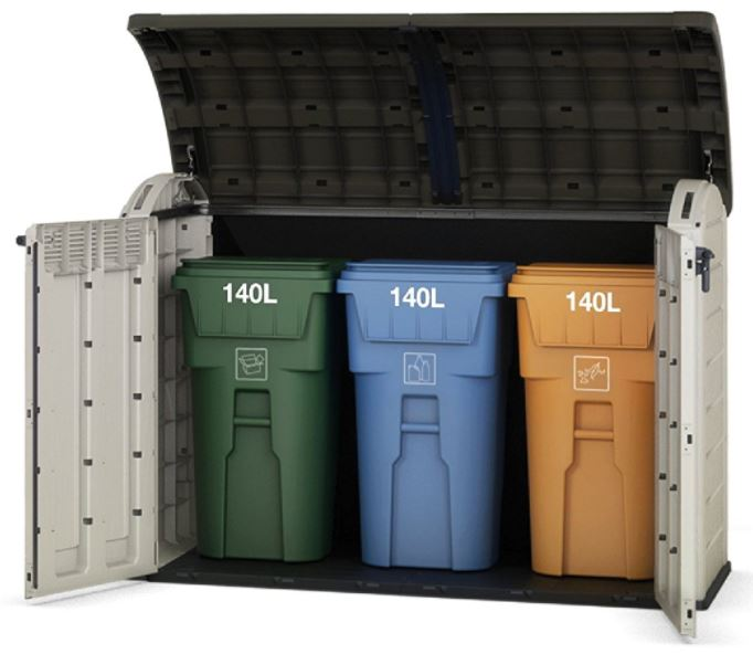 Keter Wheelie Trash Bin Storage