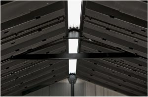 Steel Truss System reinforces the Roof Structure