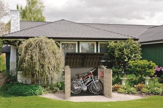 Store-It-Out Ultra used for bike storage