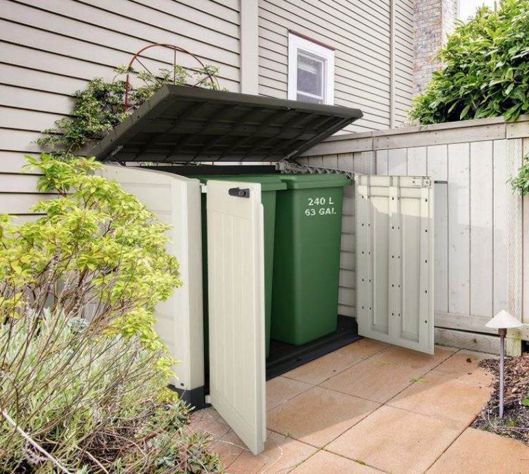 Large Outdoor Storage Containers - Wheelie Trash Bin Storage