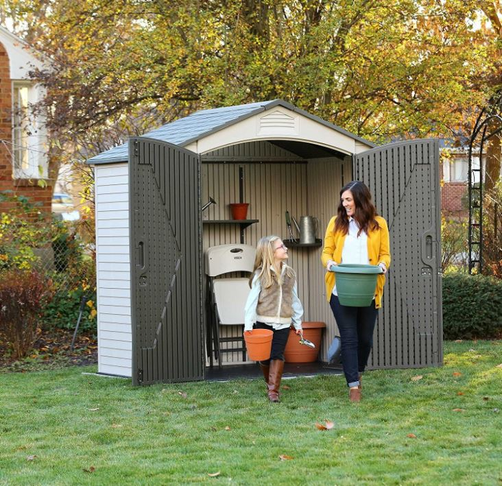 Lifetime 7 x 4.5 ft Small Plastic Shed