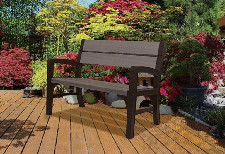 Resin Garden Bench Seat - Montero 2 Seater Bench