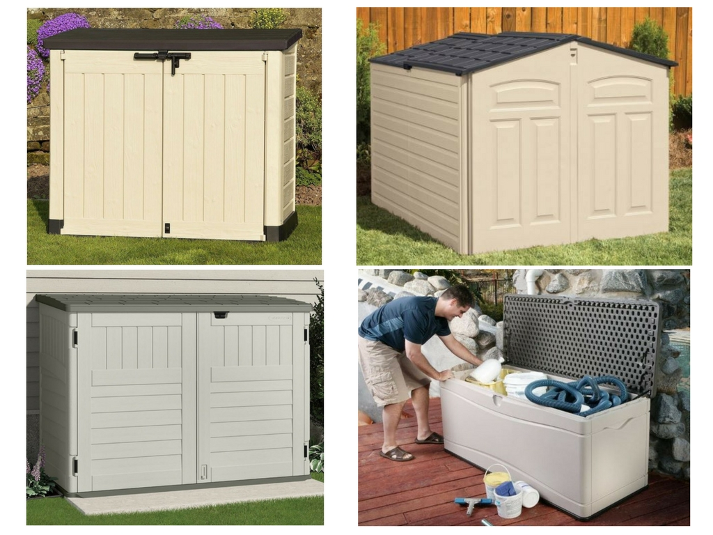 Small Plastic Garden Storage Weather Resistant Sheds