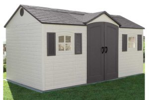 Large Plastic Sheds - Lifetime 15 x 8 ft