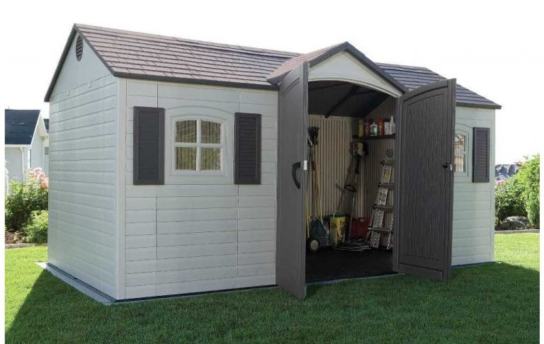 Large Plastic Sheds - Lifetime 15 x 8 ft Shed