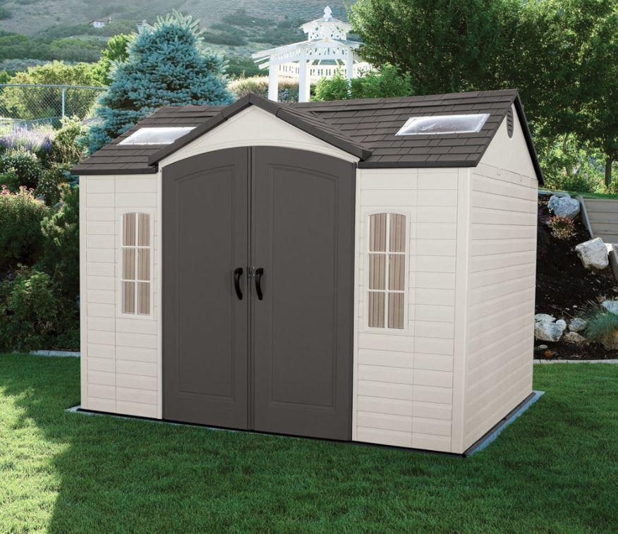 Large plastic sheds lifetime 10 8 ft shed weather for Large plastic sheds